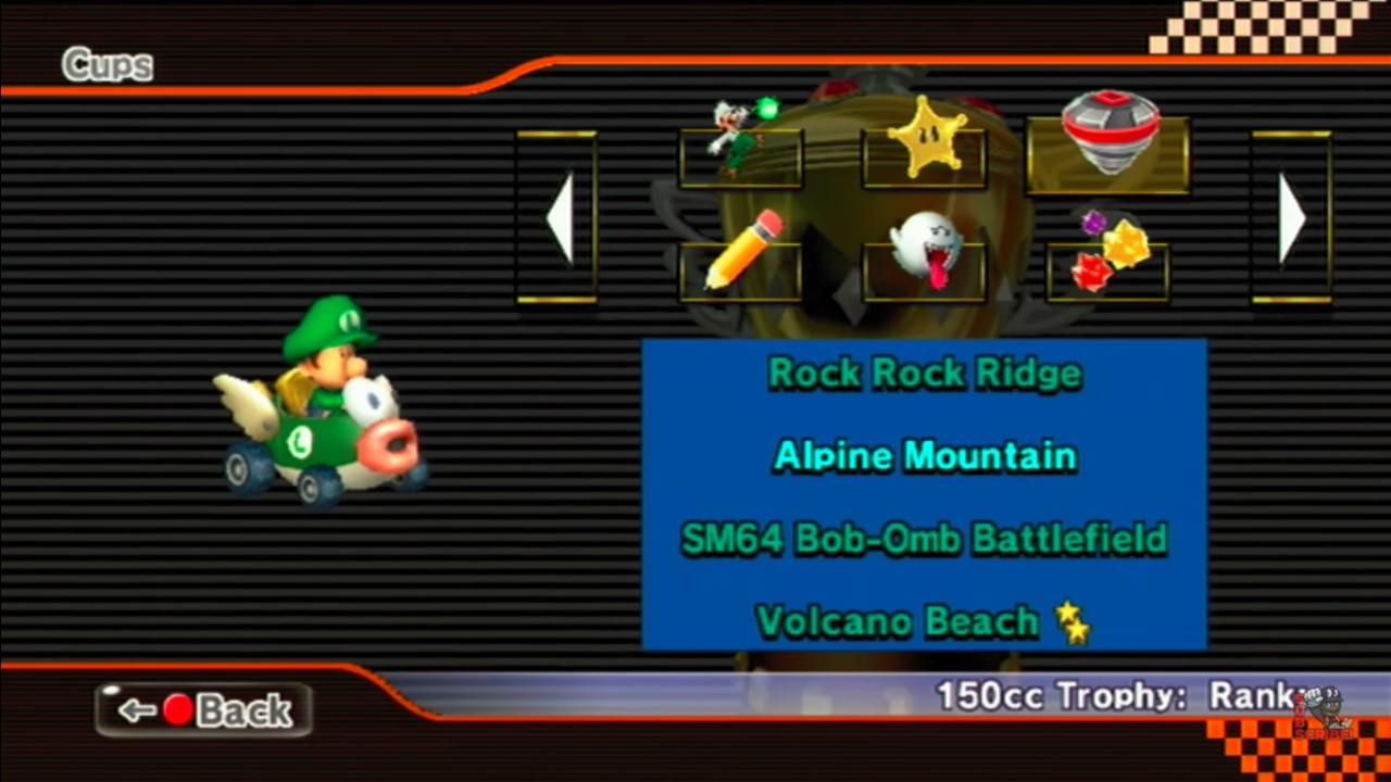 Screen Shot Of Mario Kart Wii Custom Tracks Cup Select Screen